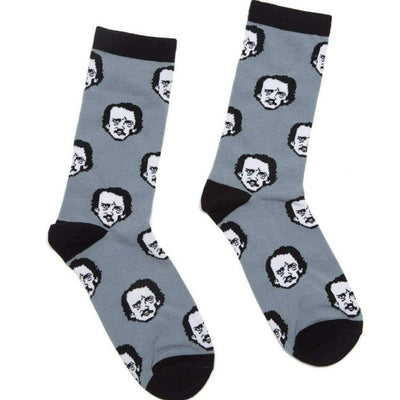 Edgar Allen Poe-Ka Dots Socks Unisex Crew Sock Men's / gray