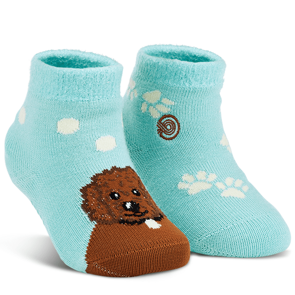 Emma Rae's Puppy Dog Fuzzy Socks Teal / Kiddos