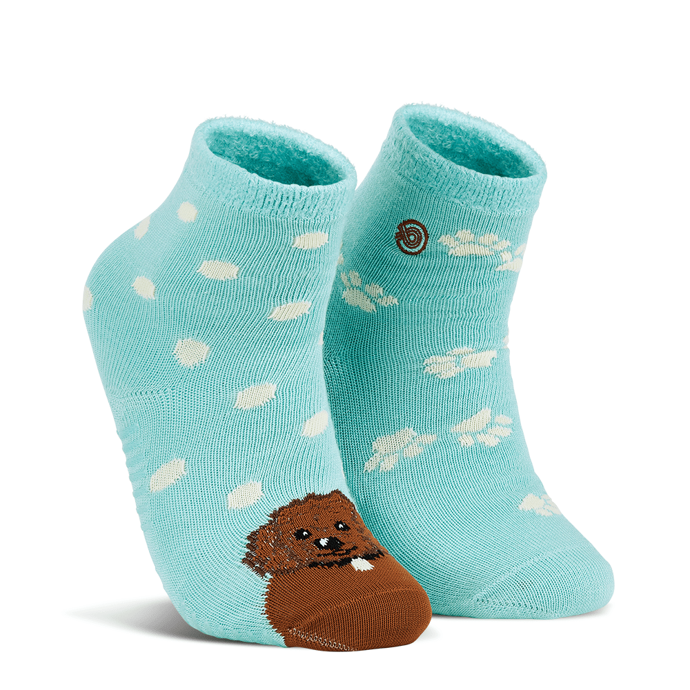 Emma Rae's Puppy Dog Fuzzy Socks Teal / Medium