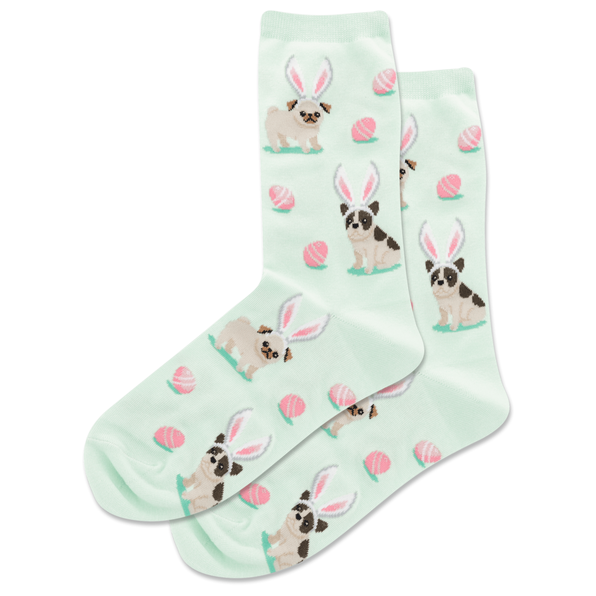 Easter Dogs Women's Crew Sock Mint