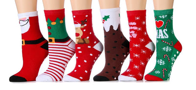 I Love Xmas Socks - Crew Socks for Women