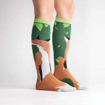 Foxy Lady Wide Calf Knee High Socks - model 2