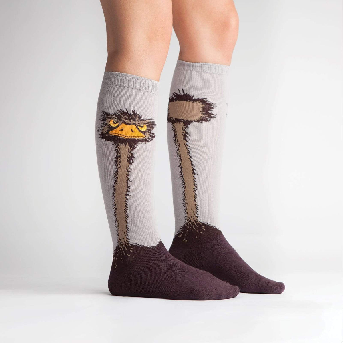 Ostrich Knee High Socks - model2