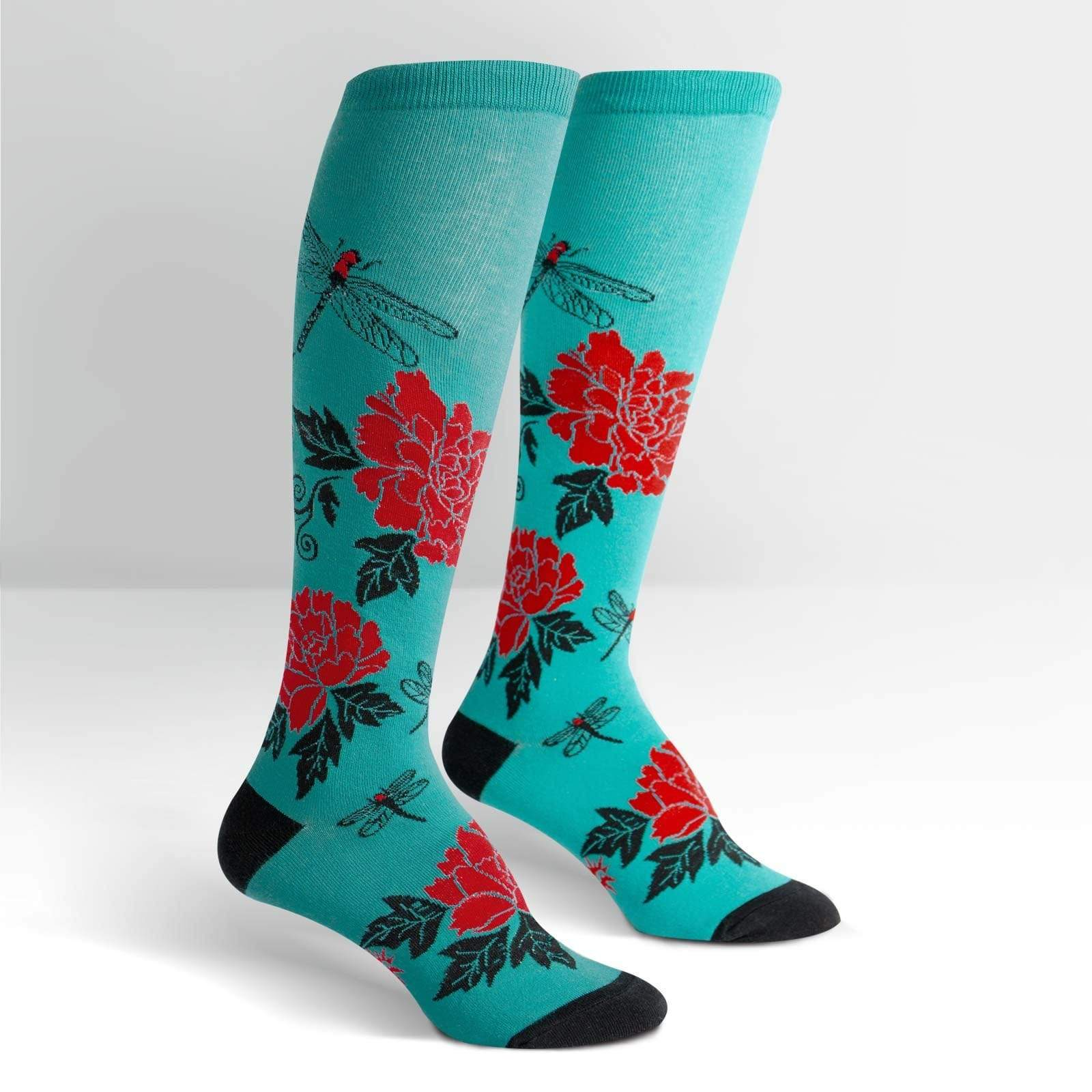 Peonies Knee High Socks