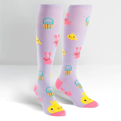 Hoppy Easter Knee High Socks model