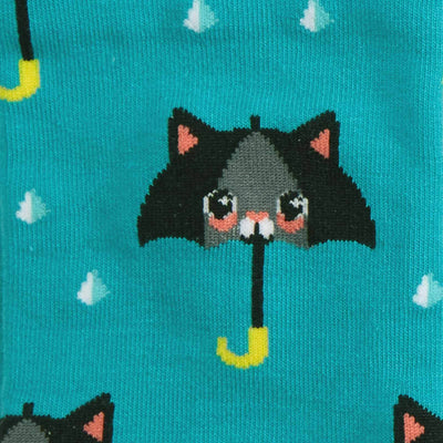 50% Chance of Cats Socks Women's Knee High Sock blue