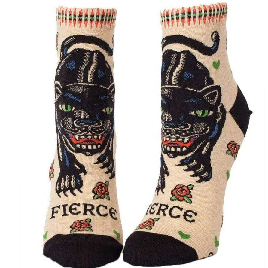 Fierce Socks - Women's Ankle Sock 5-10 / beige