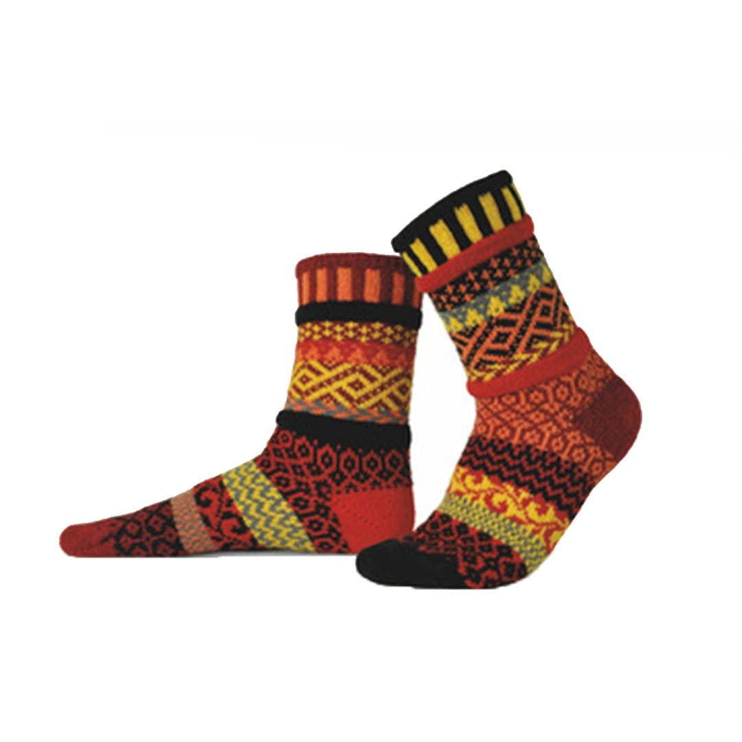 Fire Cotton Crew Socks Small / Red