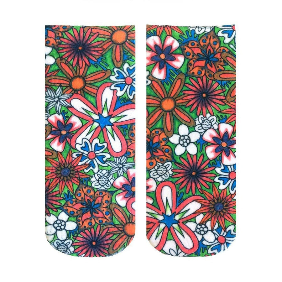 3b922104a41 Floral Color In Socks Ankle Sock