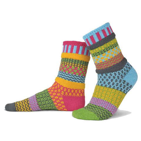 Forget Me Not recycled cotton multicoloured odd-socksBy Solmate