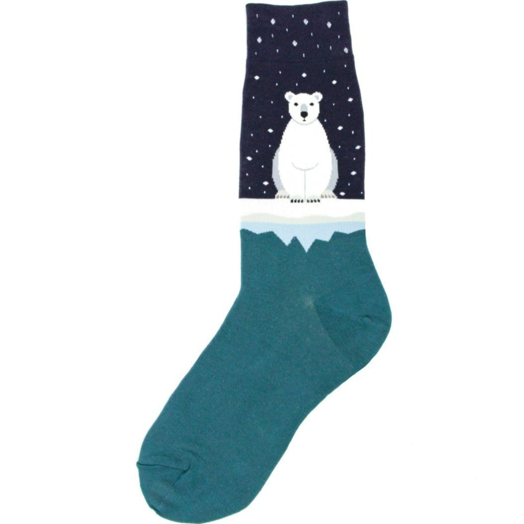 Polar Bear Socks - Crew Socks for Men