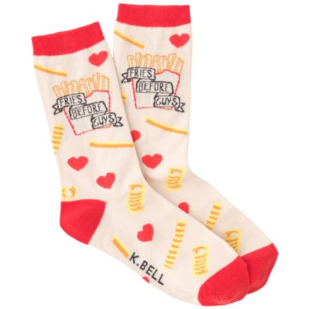 Fries Before Guys Women's Crew Socks
