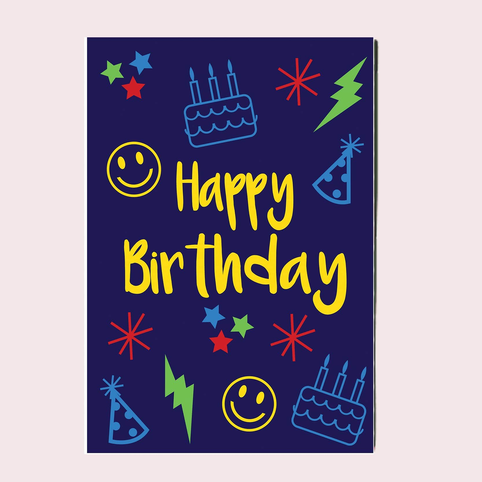 Happy Birthday Greeting Card Single Card