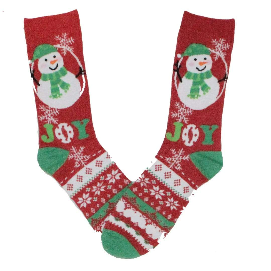 Full Of Joy Snowman Crew Socks
