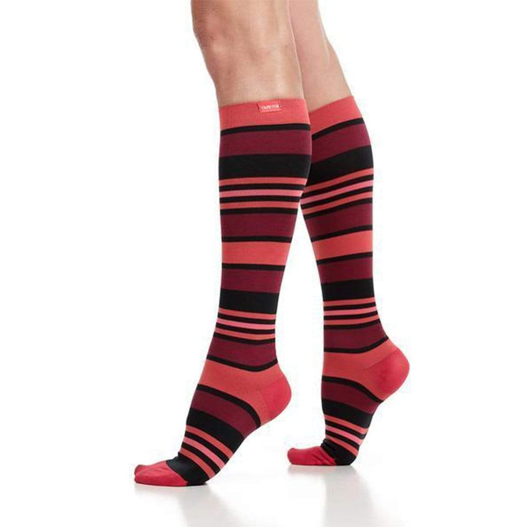 Fun Stripes Firm Compression Socks
