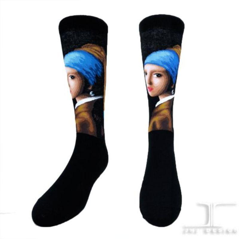 girl-with-a-pearl-earring-socks-crew-socks-for-women