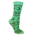 Reindeer Snowflake Women's Holiday Sock Green