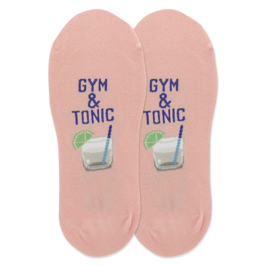 Gym and Tonic Women's Liner Sock Blush