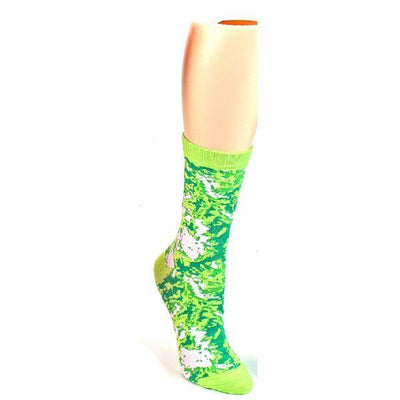 womens crew socks in tie dyed