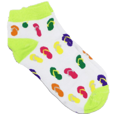 Sandals - Women's Ankle Sock lime green