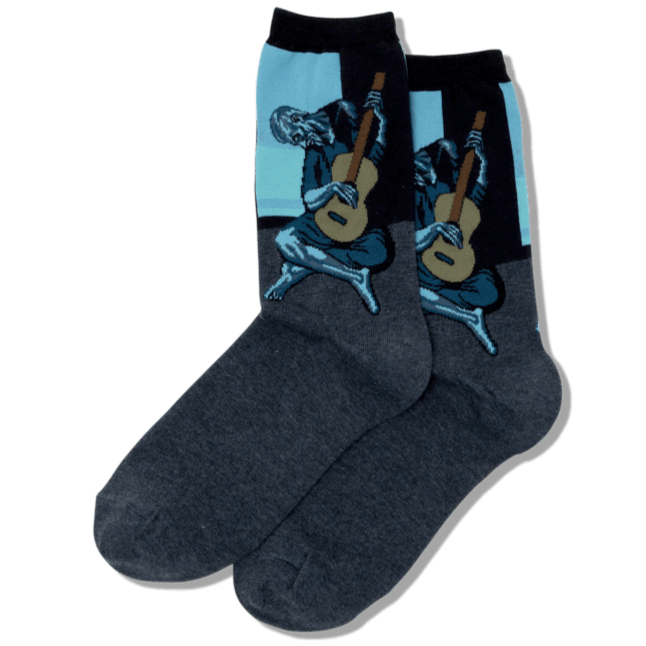 Picasso's Old Guitarist Socks Men's Crew Sock