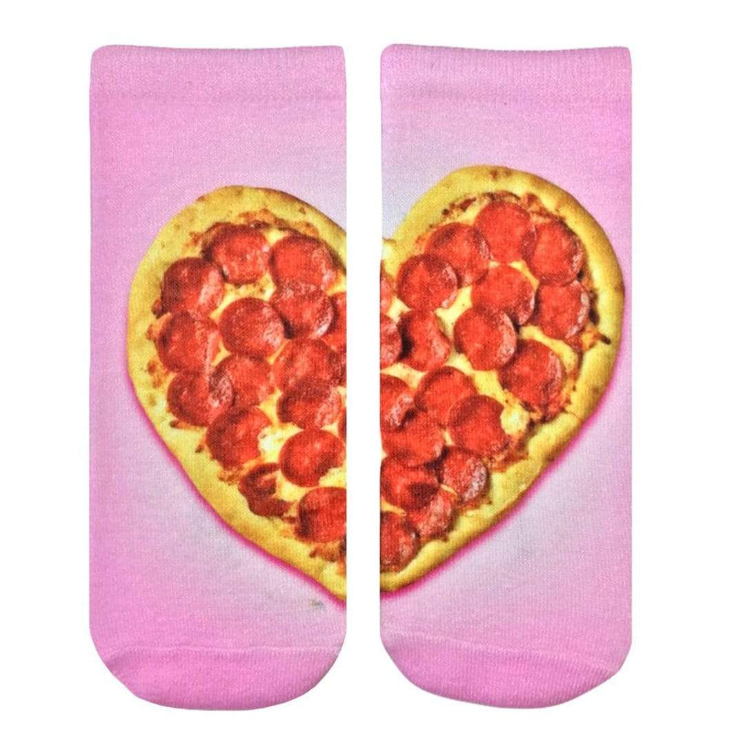 Heart Pizza Unisex Ankle Sock Pink