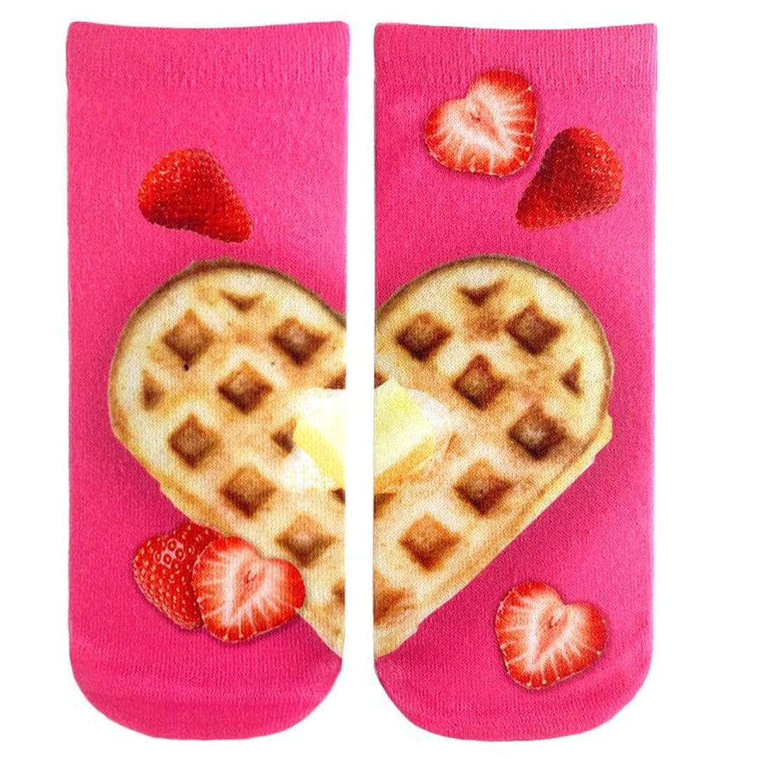 Heart Waffle Unisex Ankle Sock Pink