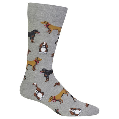 Multi Dog Socks - Men's Crew- Hemp