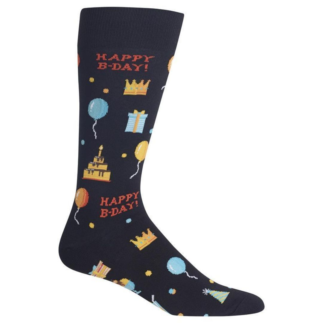Happy Birthday Socks Men's Crew Sock