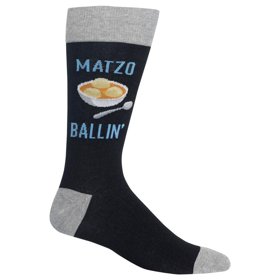 Matzo Ballin' Men's Crew Socks Black