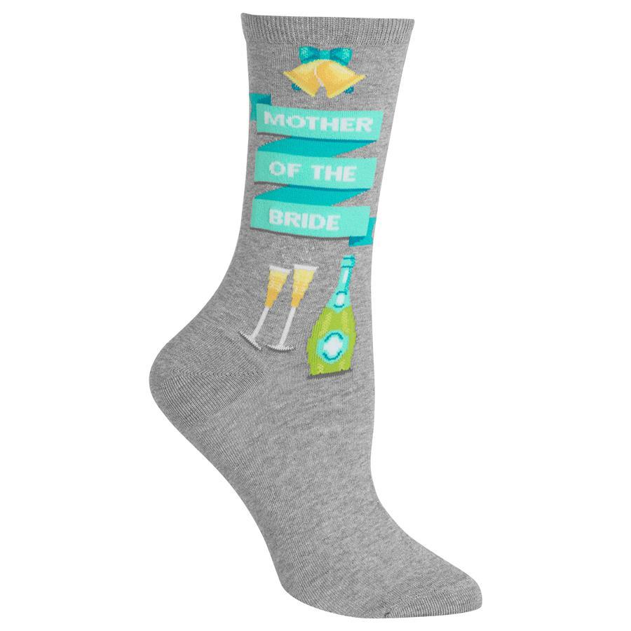 Mother of the Bride Crew Socks gray
