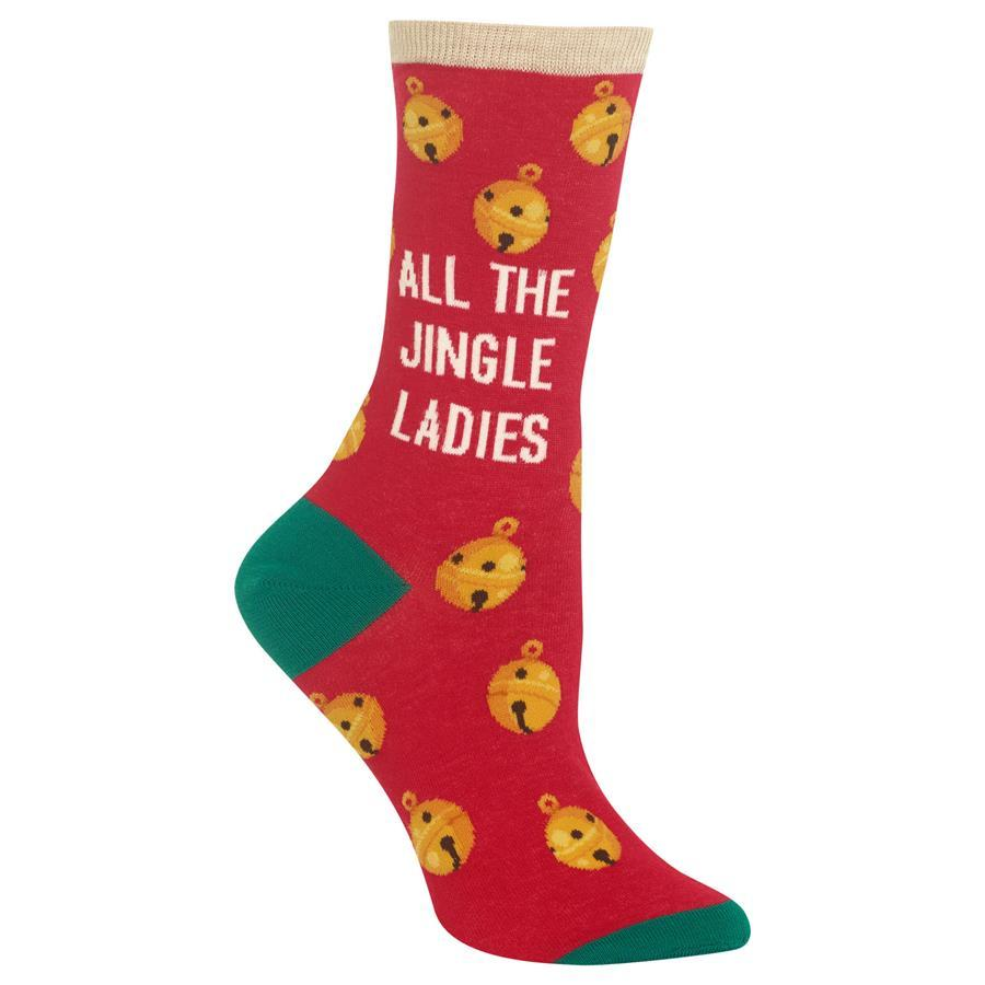 All The Jingle Ladies Women's Socks Red