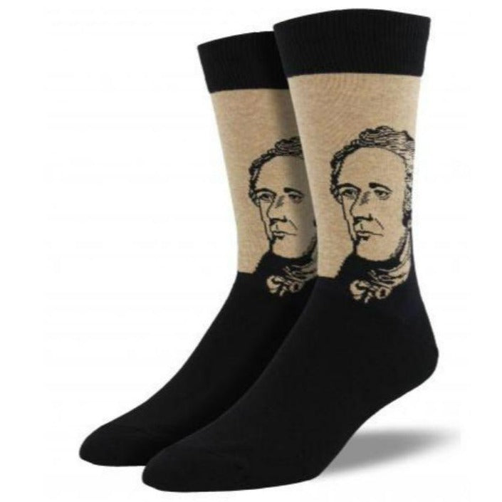 Alexander Hamilton Socks Men's Crew Sock Hemp