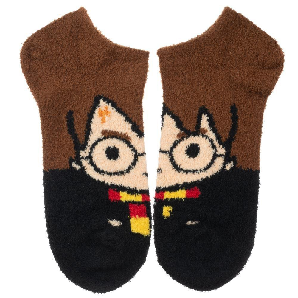 Harry Potter Fuzzy Chenille Ankle Sock Brown