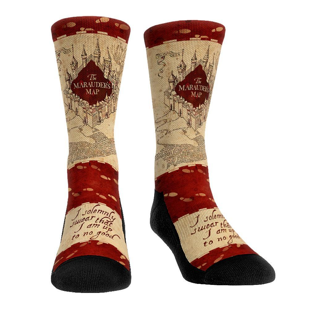 Harry Potter Marauder's Map Men's Crew Sock