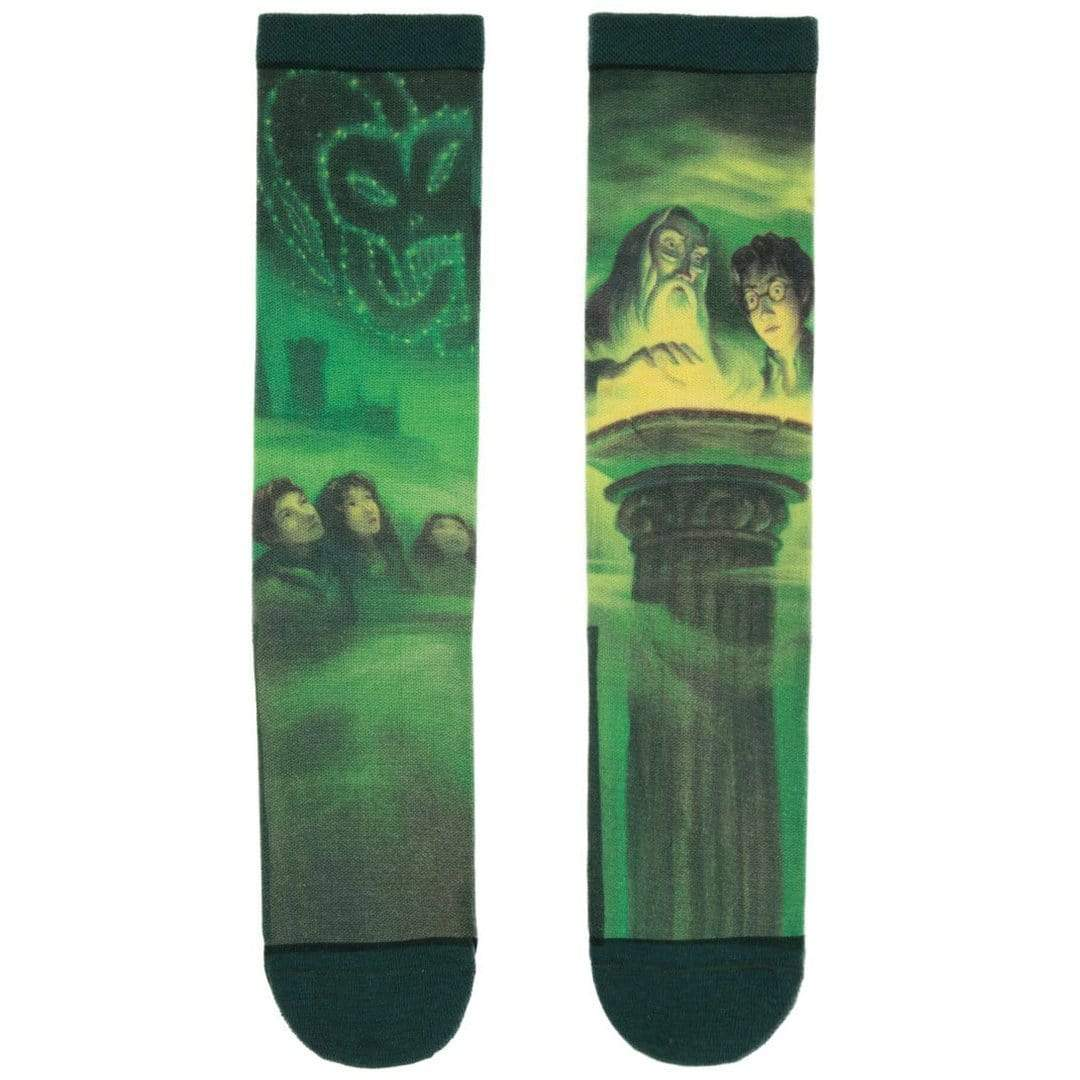 Harry Potter and the Half-Blood Prince Socks Unisex Crew Sock Womens Small / Green