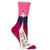 Heading To My Next Mistake Women's Crew Sock Pink