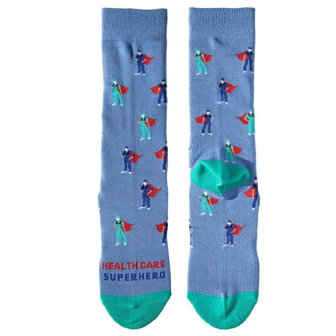 Healthcare Superhero Sock Crew Socks