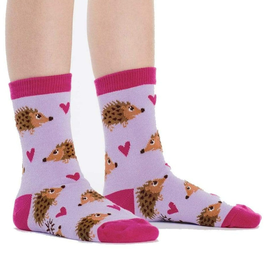 Hedgehog Heaven Youth Crew Socks
