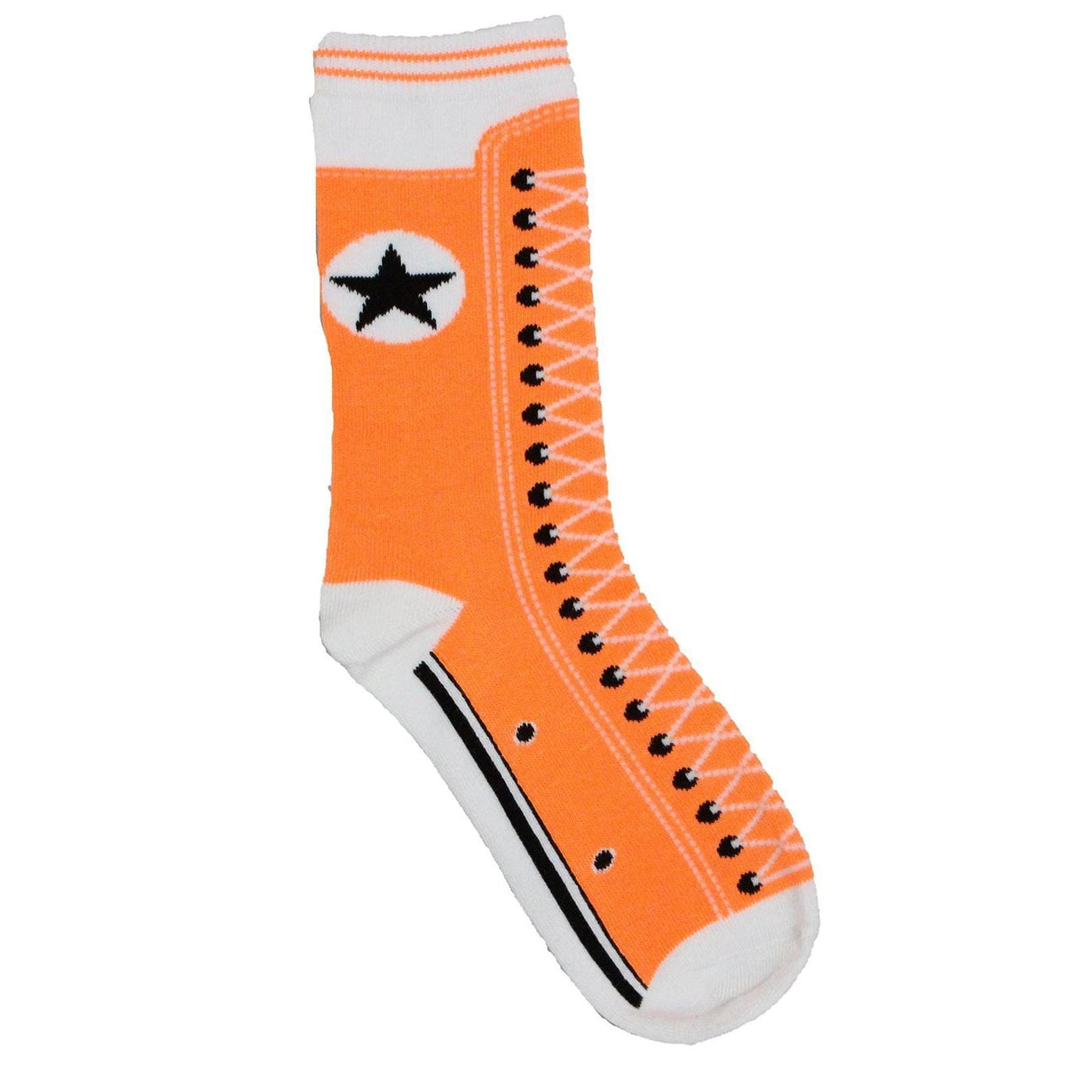 Sneaker Style Socks Women's Crew Sock Orange