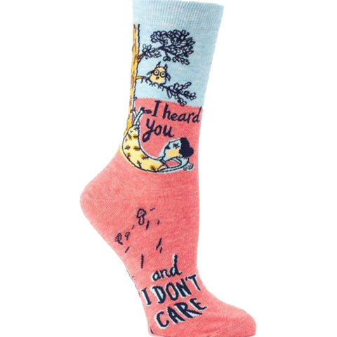 65e24540b I Heard You And I Don t Care Socks - Crew Socks for Women