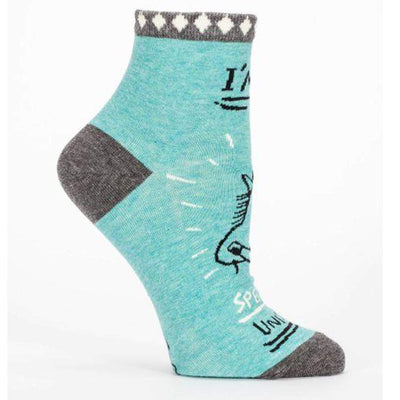 I'm a Special Unicorn Socks - Women's Ankle Sock blue