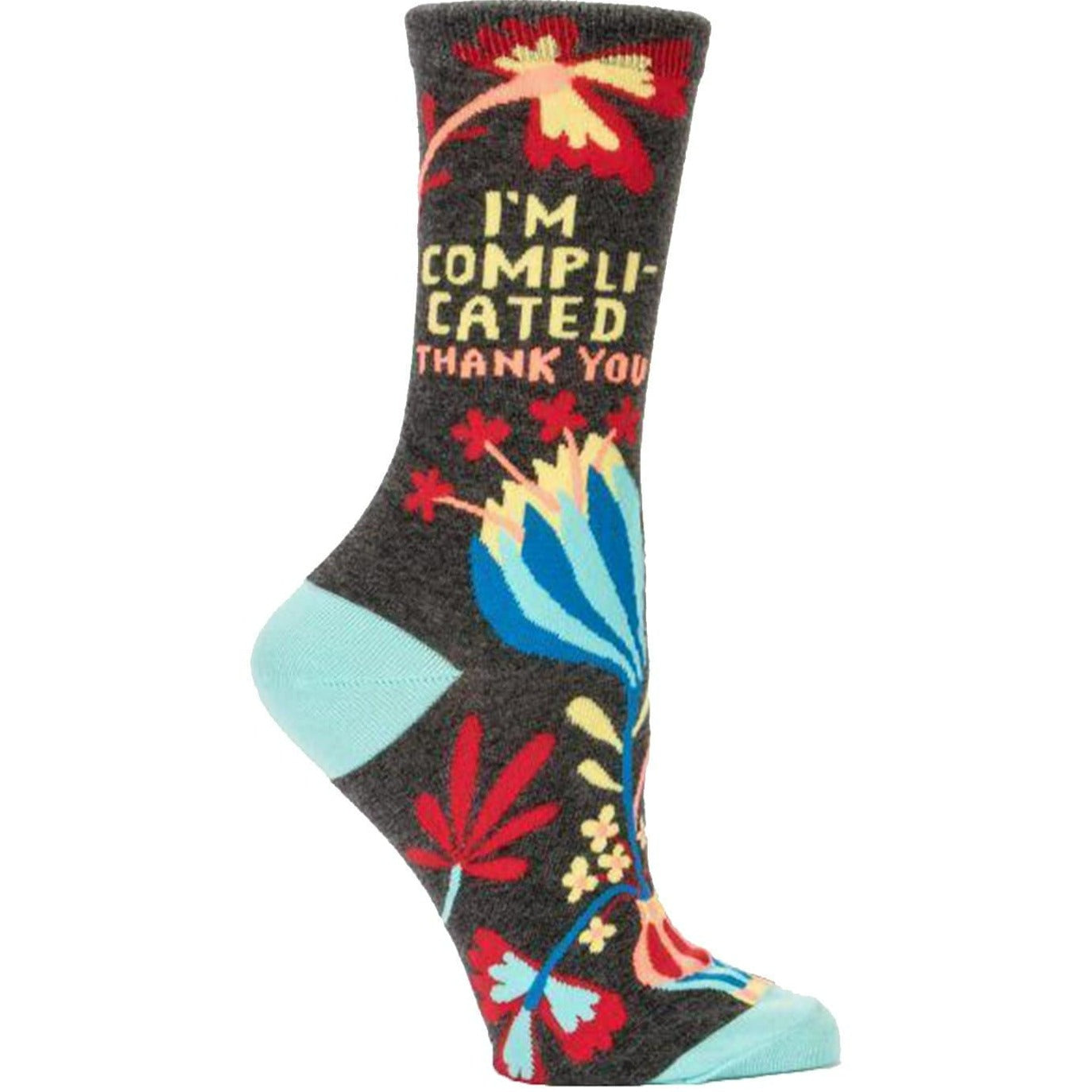 I'M COMPLICATED SOCKS - CREW SOCKS FOR WOMEN