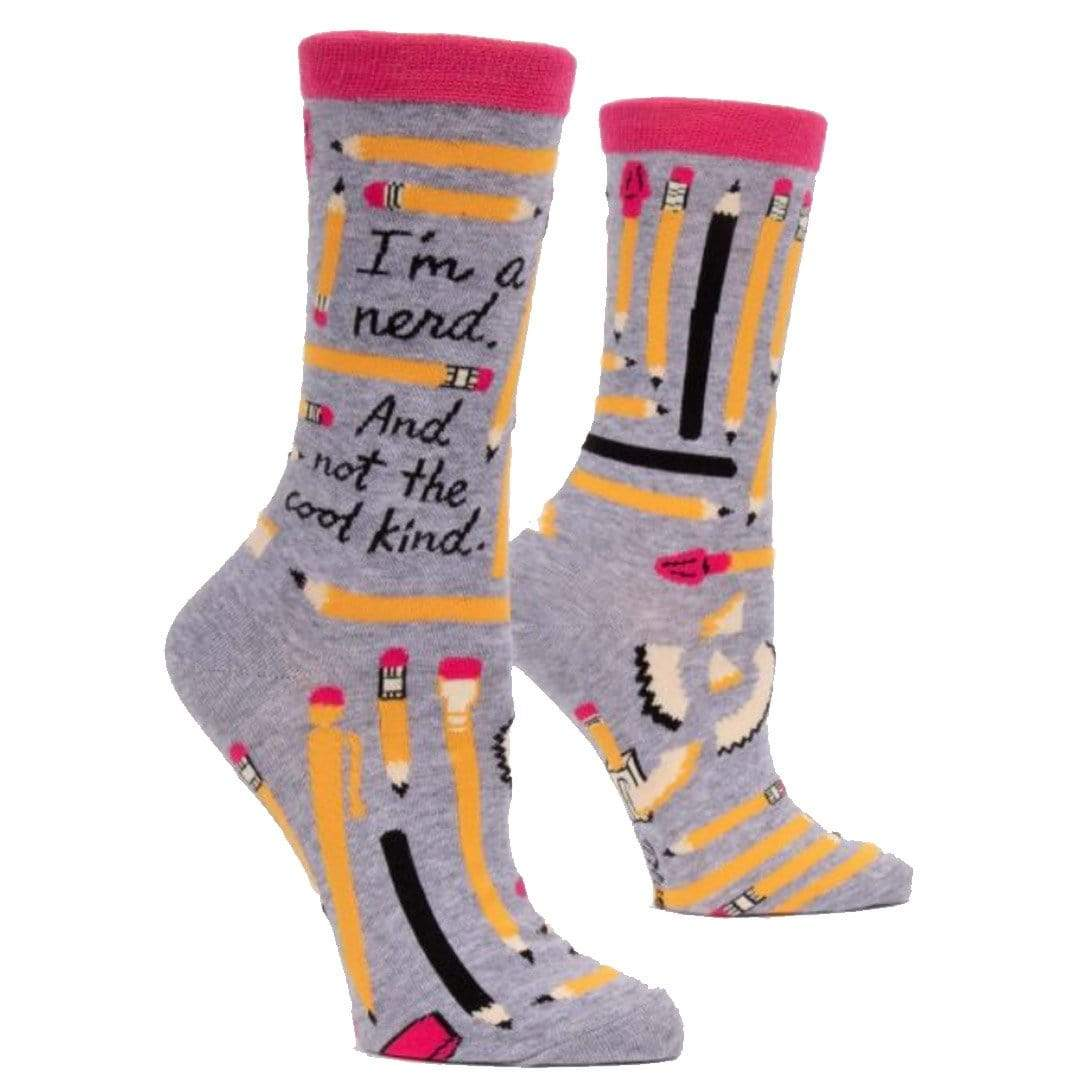 I'm A Nerd Women's Crew Sock Grey