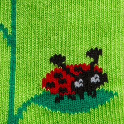 Lady Bug Junior Crew Socks - Detail