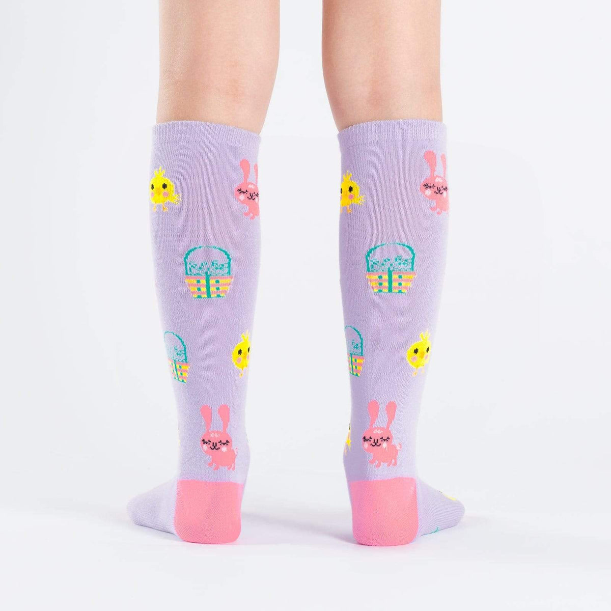 Hoppy Easter Junior Knee High Socks rear
