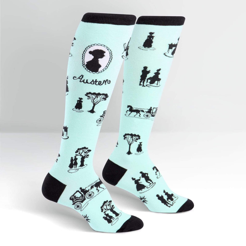 Jane Austen Socks – Knee High for Women