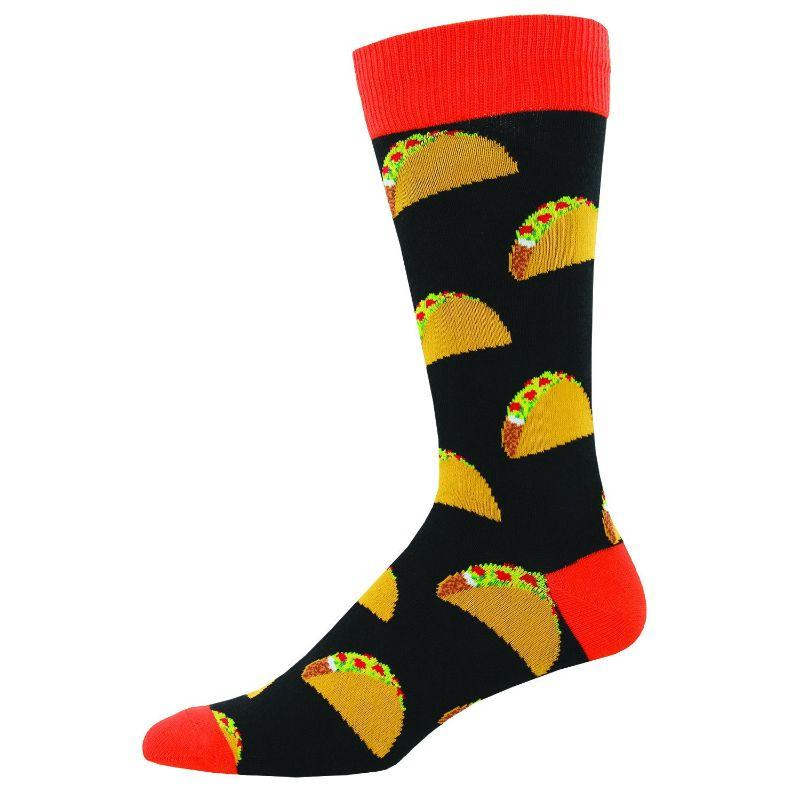 Taco Socks Men's Crew Sock Black / Shoe Size 7-12