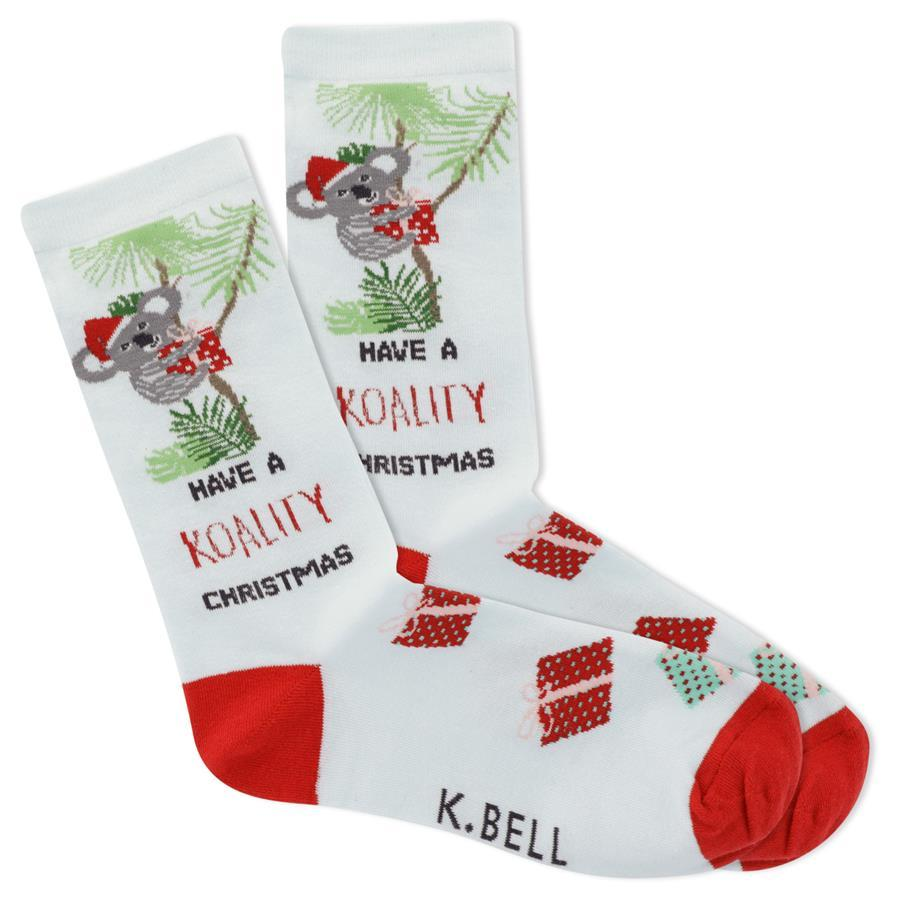 Koality Christmas Women's Crew Socks Blue