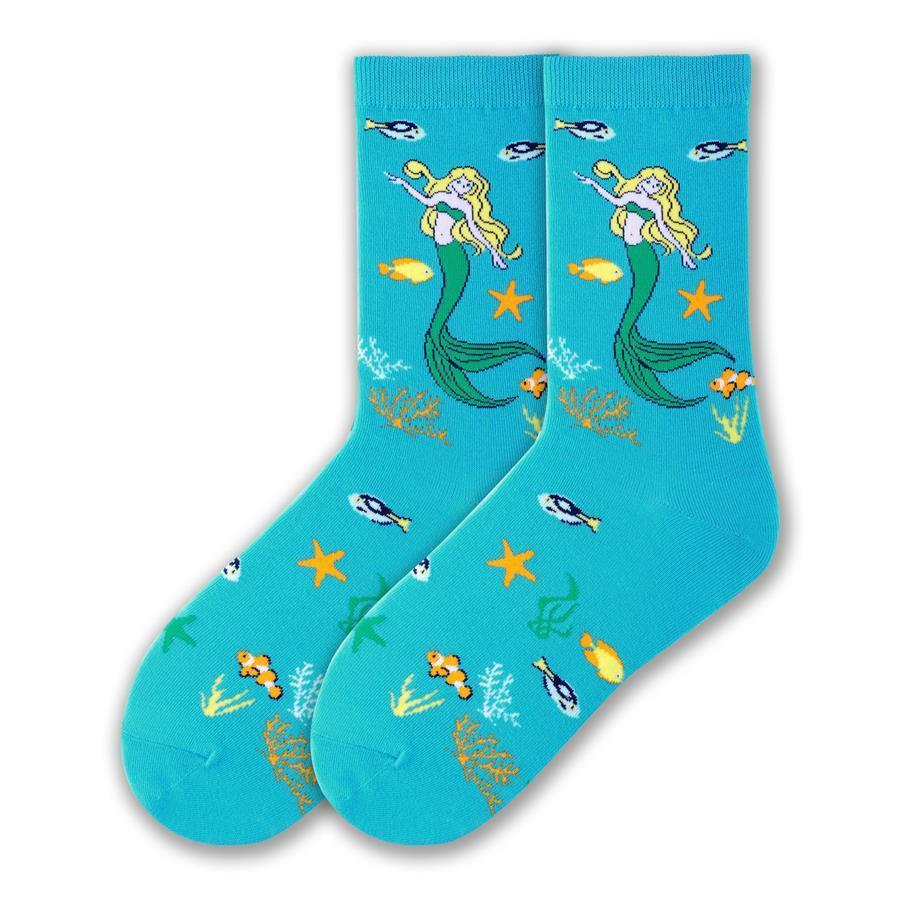 Under the Sea Socks Women's Crew Sock Blue